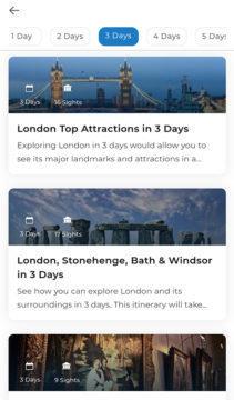 plán výletu Visit a city