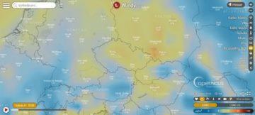 Počasí Windy - kvalita ovzduší - Česká republika