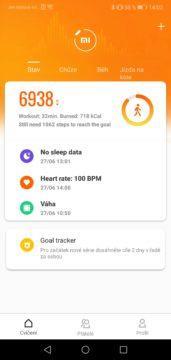 Přehled vaší aktivity v aplikaci pro Xiaomi Mi Band 4
