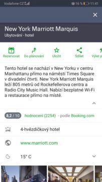 Rezervace hotelu - mapy.cz