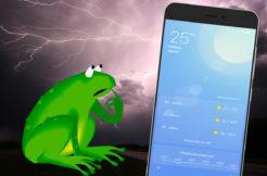 S jakou aplikací sledujete předpověď počasí
