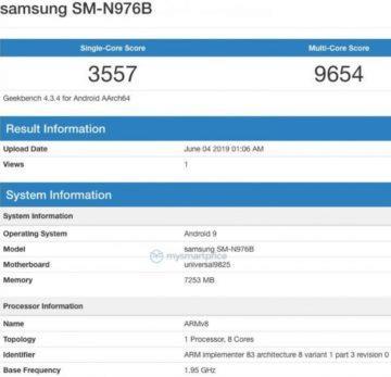 GeekBench Samsung Galaxy Note 10 - procesor Exynos