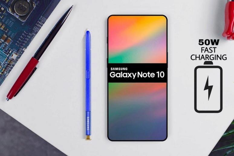 Samsung Galaxy Note 10 - rychlejší nabíjení