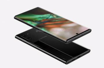 Samsung Note 10 přední a zadní strana