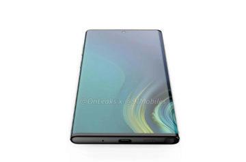 Samsung Note 10 přední strana telefonu