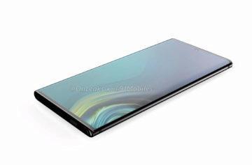 Samsung Note 10 zaoblený displej