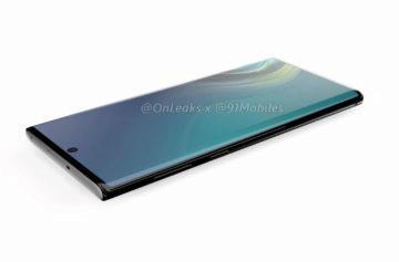 Samsung Note 10 selfie fotoaparát