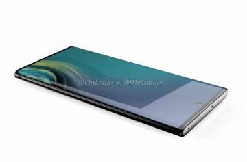 Samsung Note 10 boční strana