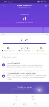 Xiaomi Mi Band 4 měření spánku