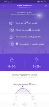 Xiaomi Mi Band 4 měření spaní
