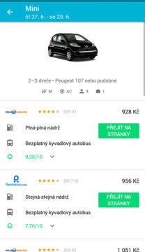 Skyscanner půjčovna aut