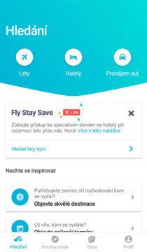 Skyscanner rezervace hotelu a auta, vyhledávač letenek