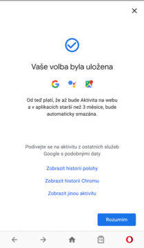 Soukromí google