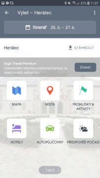 Sygic Travel správa rezervací