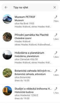 tipy na výlet mapy.cz
