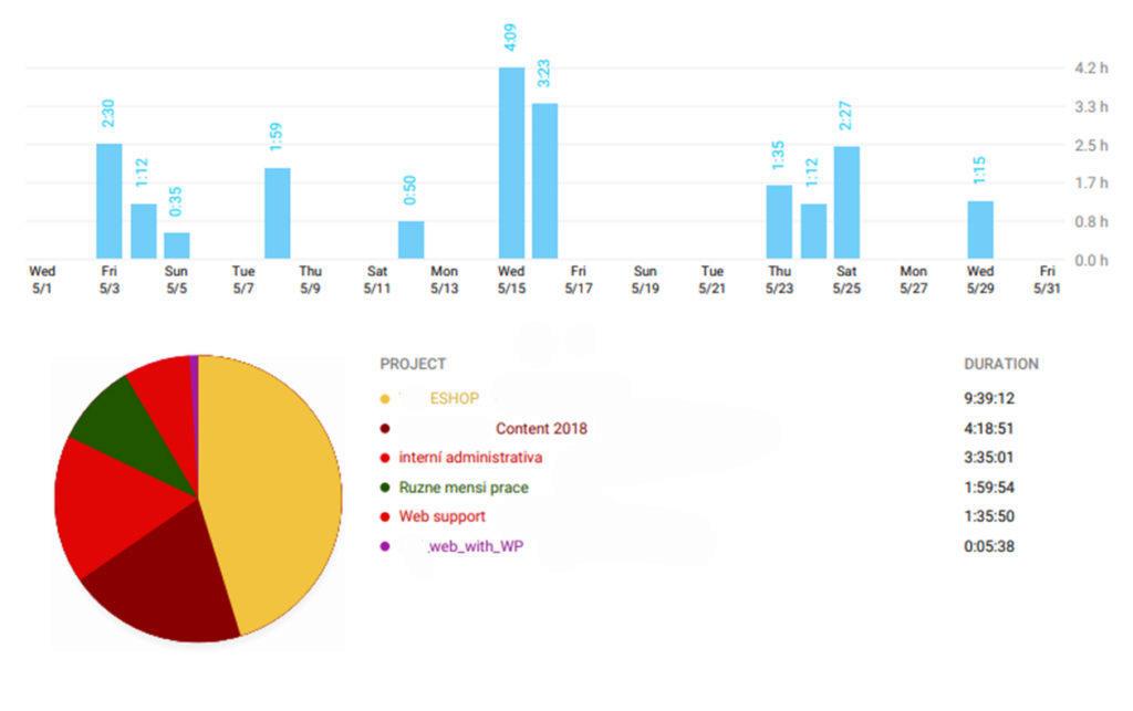 Toggl web report