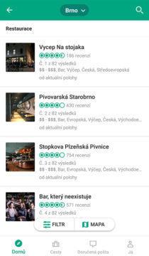aplikace tripadvisor Brno bary