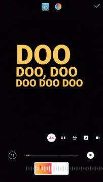 úprava textu písně instagram stories
