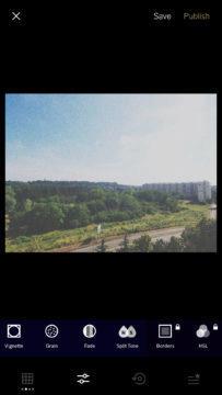 VSCO cam filtry úprava fotografií