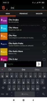 Vyhledávání stanic v Play.cz