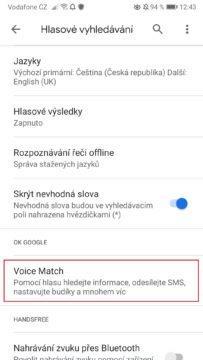 Vypnutí a zapnutí OK Google