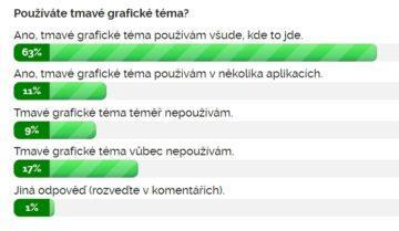 Výsledky ankety Používáte tmavé grafické téma?