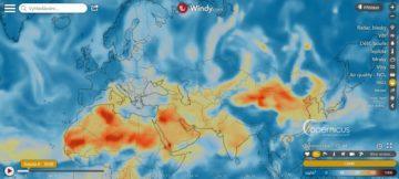 Windy - ukazatel znečištění ovzduší