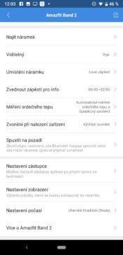 Xiaomi Amazfit Cor 2 nastavení