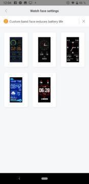 Xiaomi Amazfit Cor 2 ciferníky