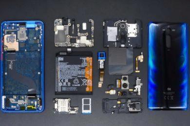 Xiaomi Mi 9T - rozebraný - oprava