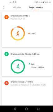 Vaše fitness aktivita