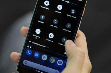 android q beta 5 gesta gesto notifikacni lista