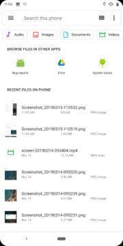 Správce souborů Android Q