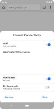 Rychlá nastavení Android Q