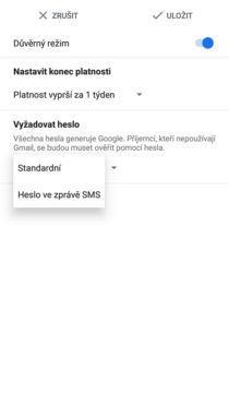 aplikace gmail dvoufazové ověření
