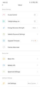 Nastavení koloběžky Xiaomi Mi Scooter Pro
