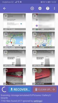 Aplikace - obnova fotek a videa z telefonu