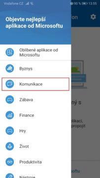 Aplikace Váš telefon - SMS z PC