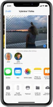 Apple AirDrop odeslání souboru - Google Fast Share