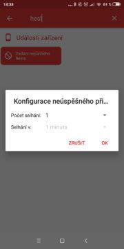 Automatizace 01 - Chybné heslo konfigurace