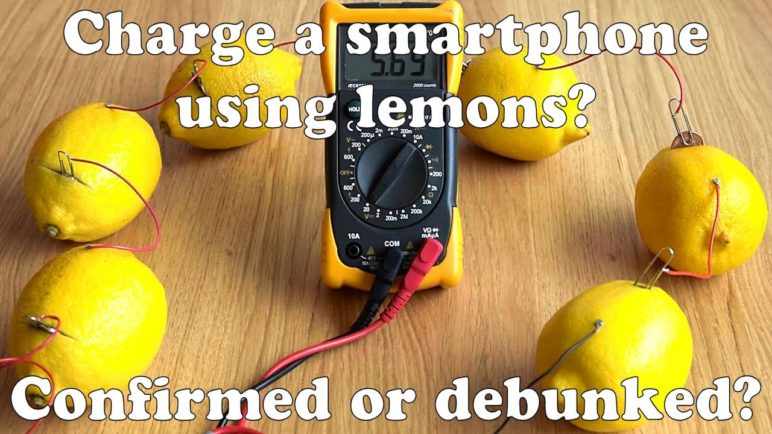 Charge a phone using lemons? Hoax or real? Watch!