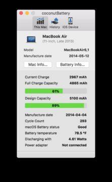CoconutBattery - MacBook
