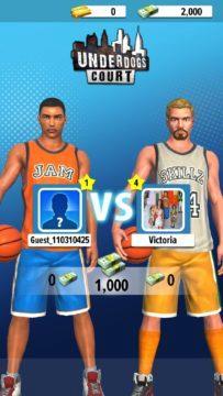 duel hra pro dva basketball stars