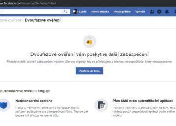 Facebook - jak nastavit dvoufázové ověření
