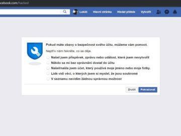 Facebook - někdo naboural účet