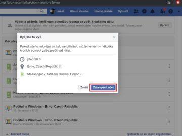 Facebook - jak zabezpečit účet
