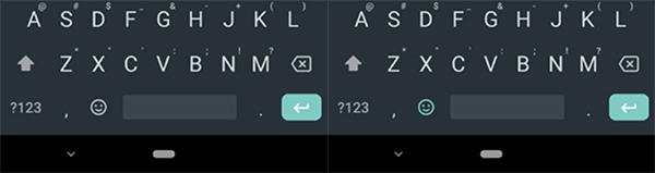 gboard návrhy slov změna vzhledu