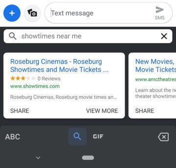 gboard sdílení google assistant