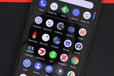 Google aplikace - tmavý režim