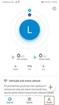Google Fit - jak nastavit tmavý režim